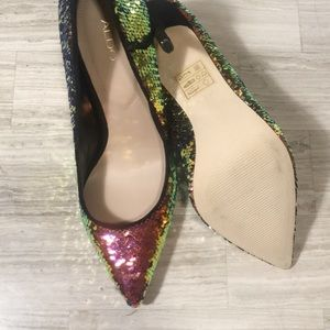 Mermaid Sequins Aldo heels